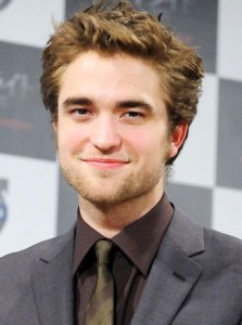 Actor Robert Pattinson photo with his spiky hairstyle 2014