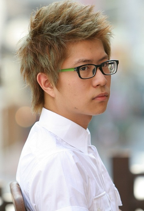 Asian Spiky hairstyles for men