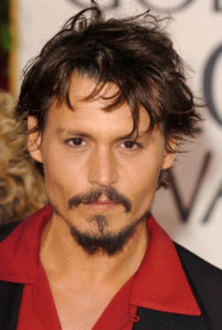 Attractive Johnny Depp's Carefree hairstyle