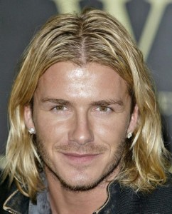 David Beckham Layered Long Hairstyles for Men New Images