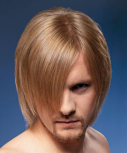 Men layered shoulder-length haircut with long bangs Nice Pics