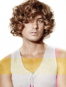 Picture Long Curly Hairs Men Brown