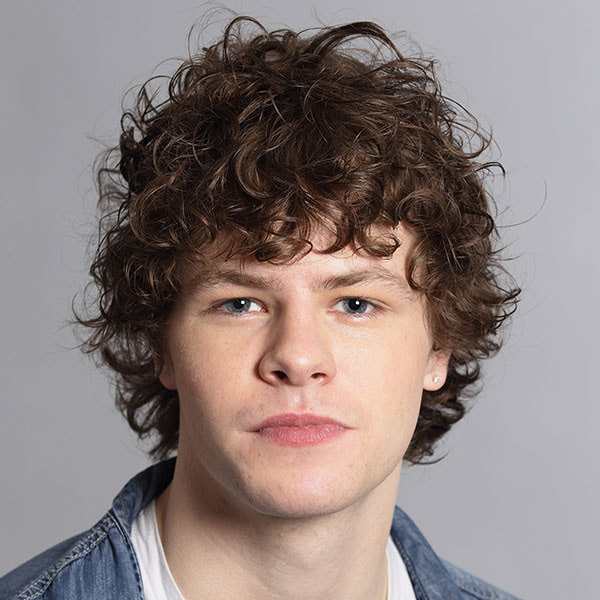White Face Curly Hairstyle