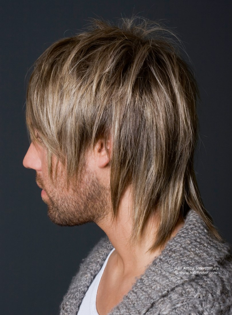 Wild hairstyle for men Long Razor Cut