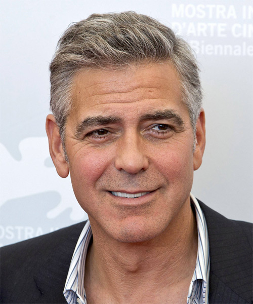 Famous George Clooney Hairstyle Haircuts