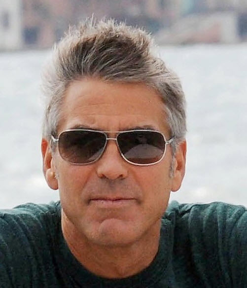 Latest George Clooney Hairstyles