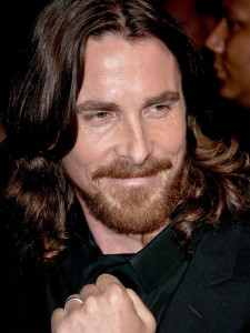 long Christian Bale Hairstyles